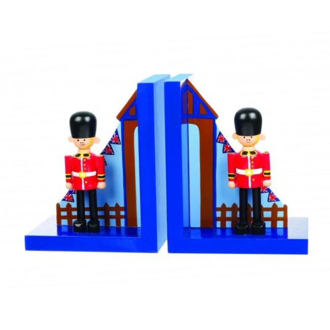 childrens wooden soldier bookends