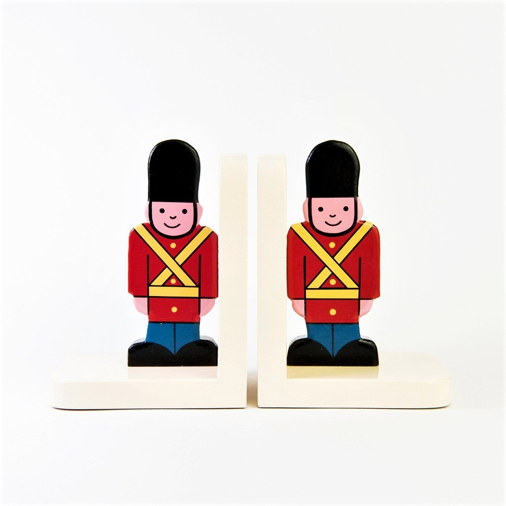 children's wooden soldier bookends