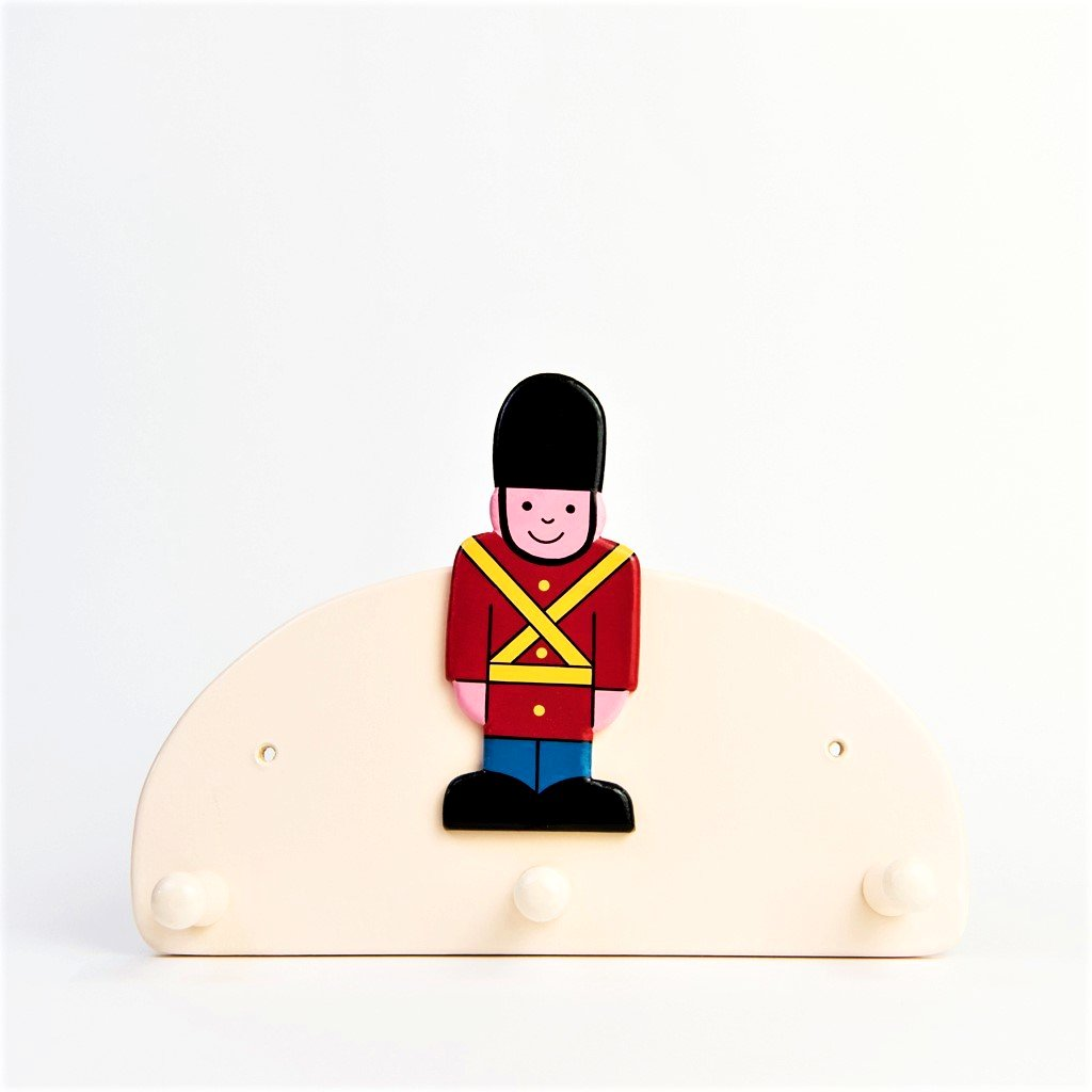 children's soldier coat hook