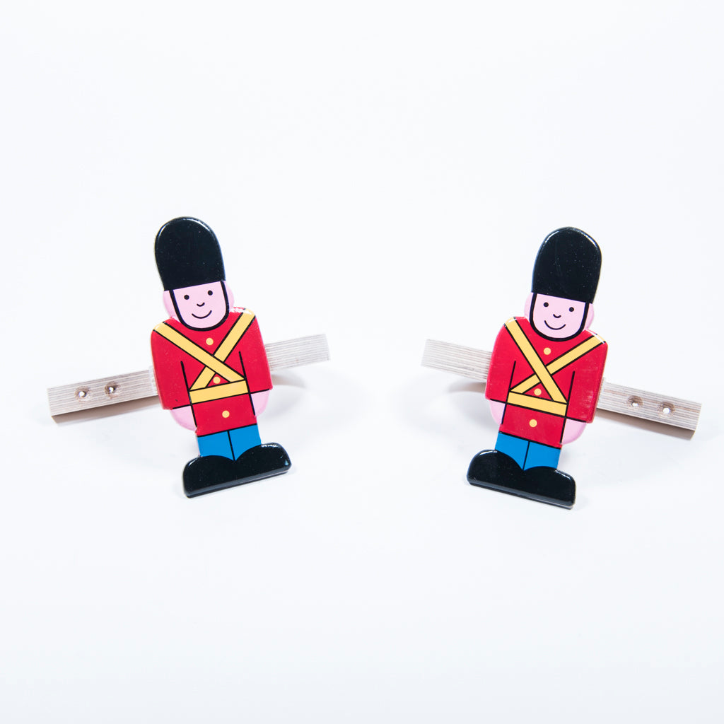 children's wooden soldier curtain tie backs