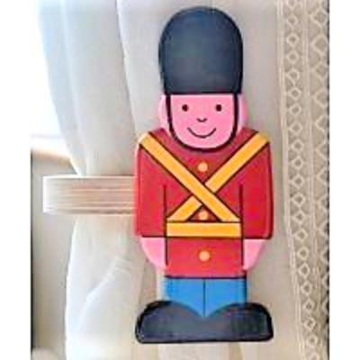 childrens wooden soldier curtain tie backs