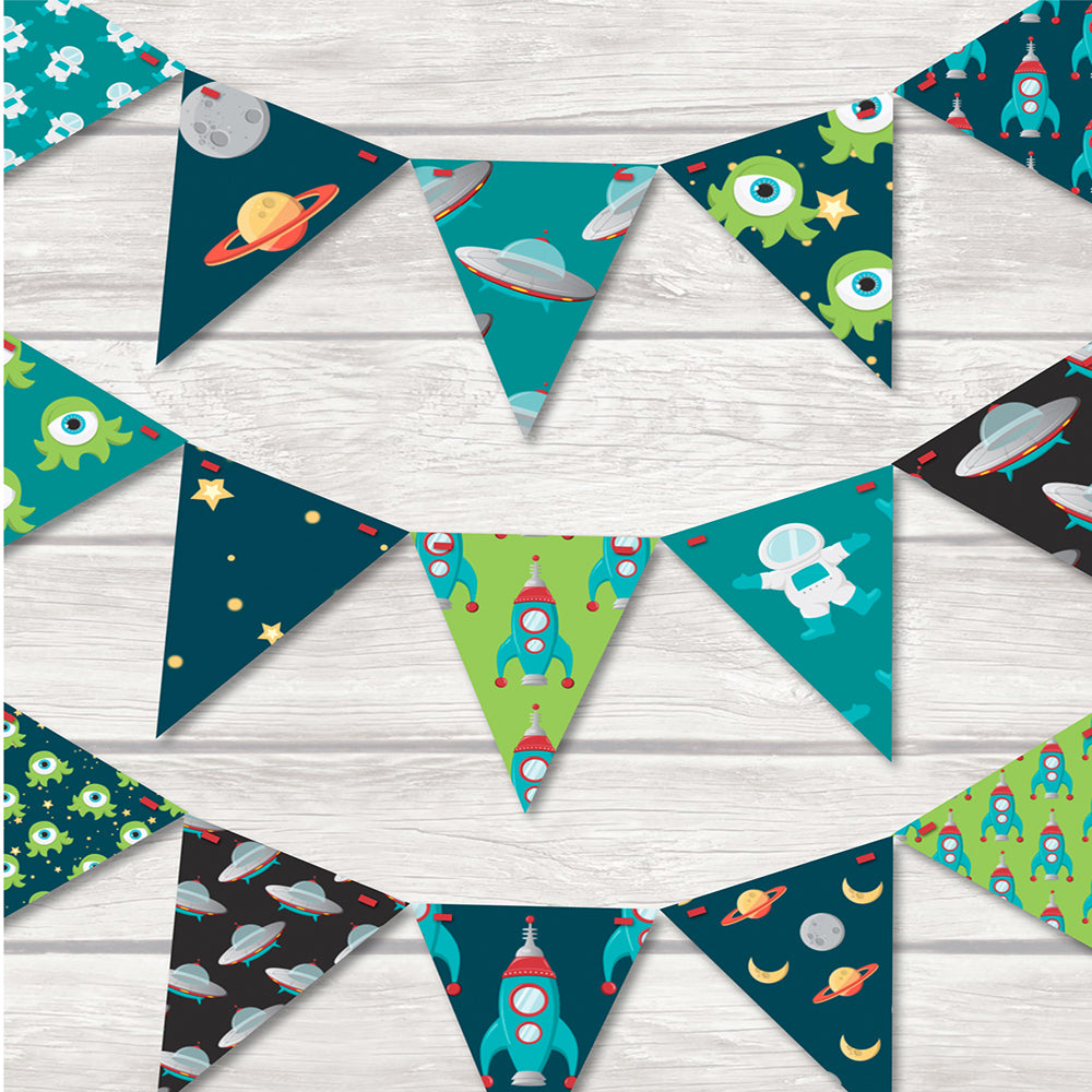 children's space bunting