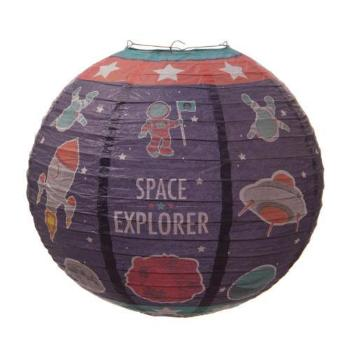 children's space paper light shade