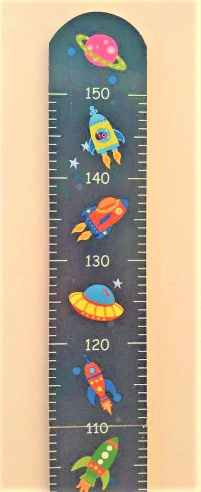 childrens space rocket height chart
