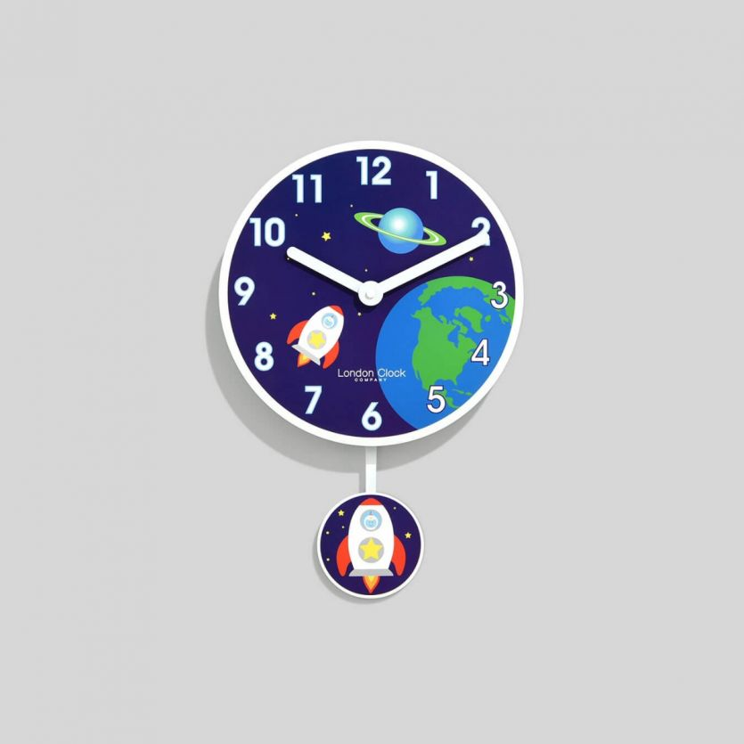 childrens space pendulum clock
