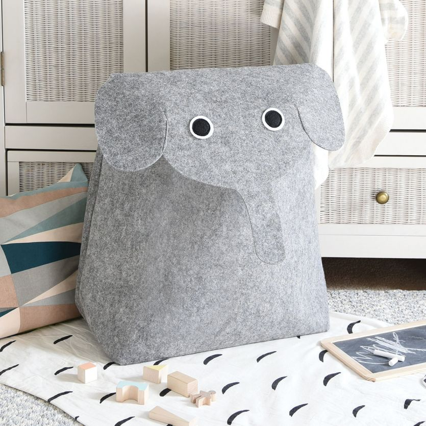 Elephant Laundry Storage Basket