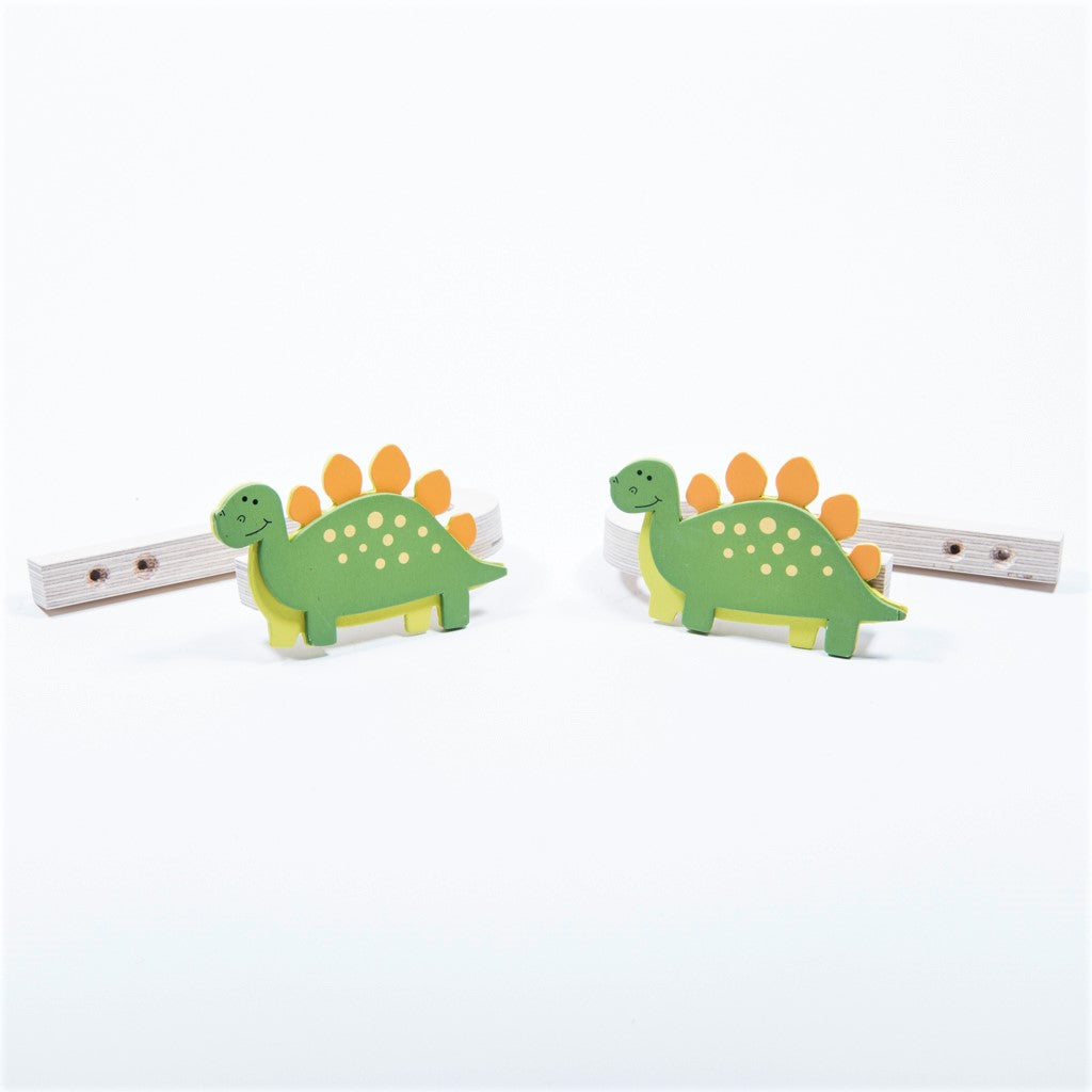 Childrens Wooden Dinosaur Curtain Tie Backs Little