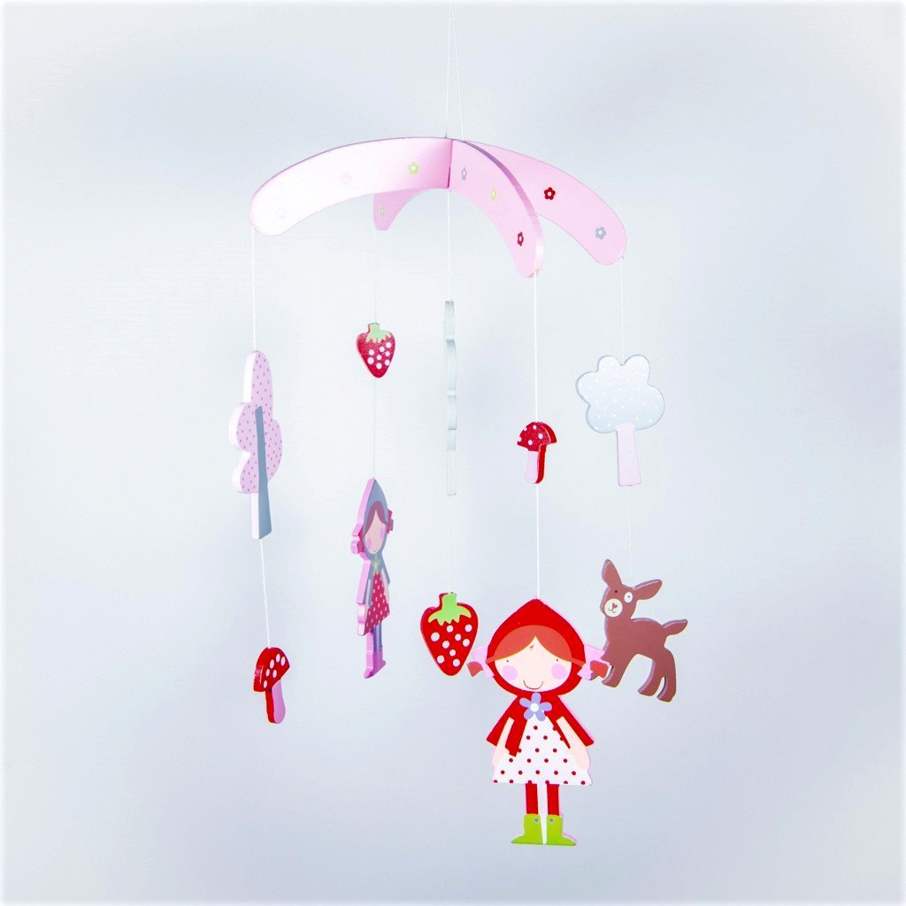 strawberry patch hanging mobile