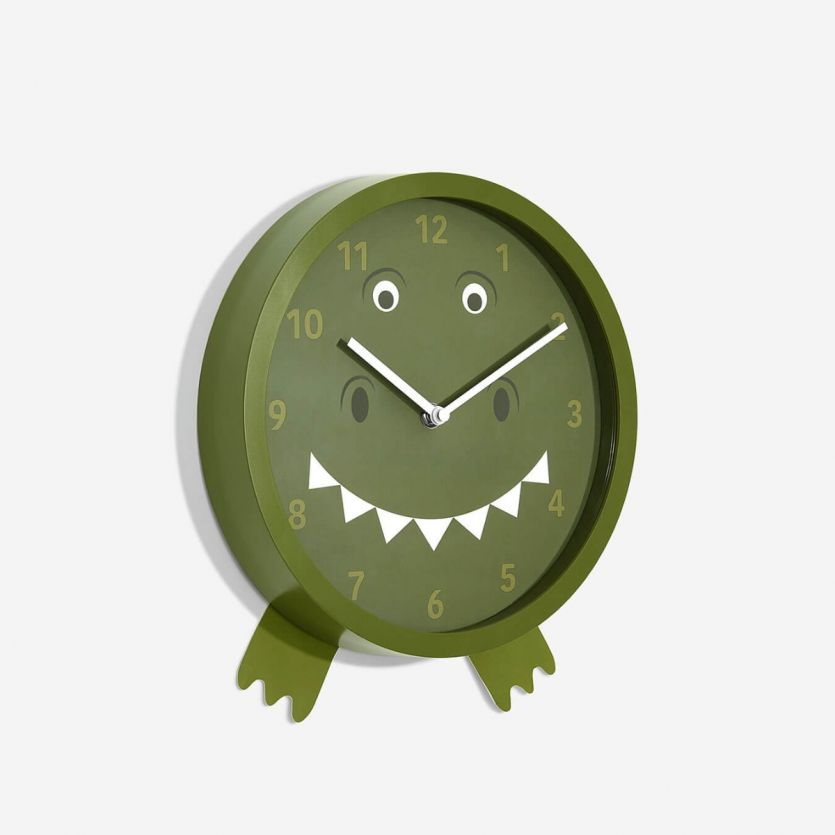childrens t-rex wall clock