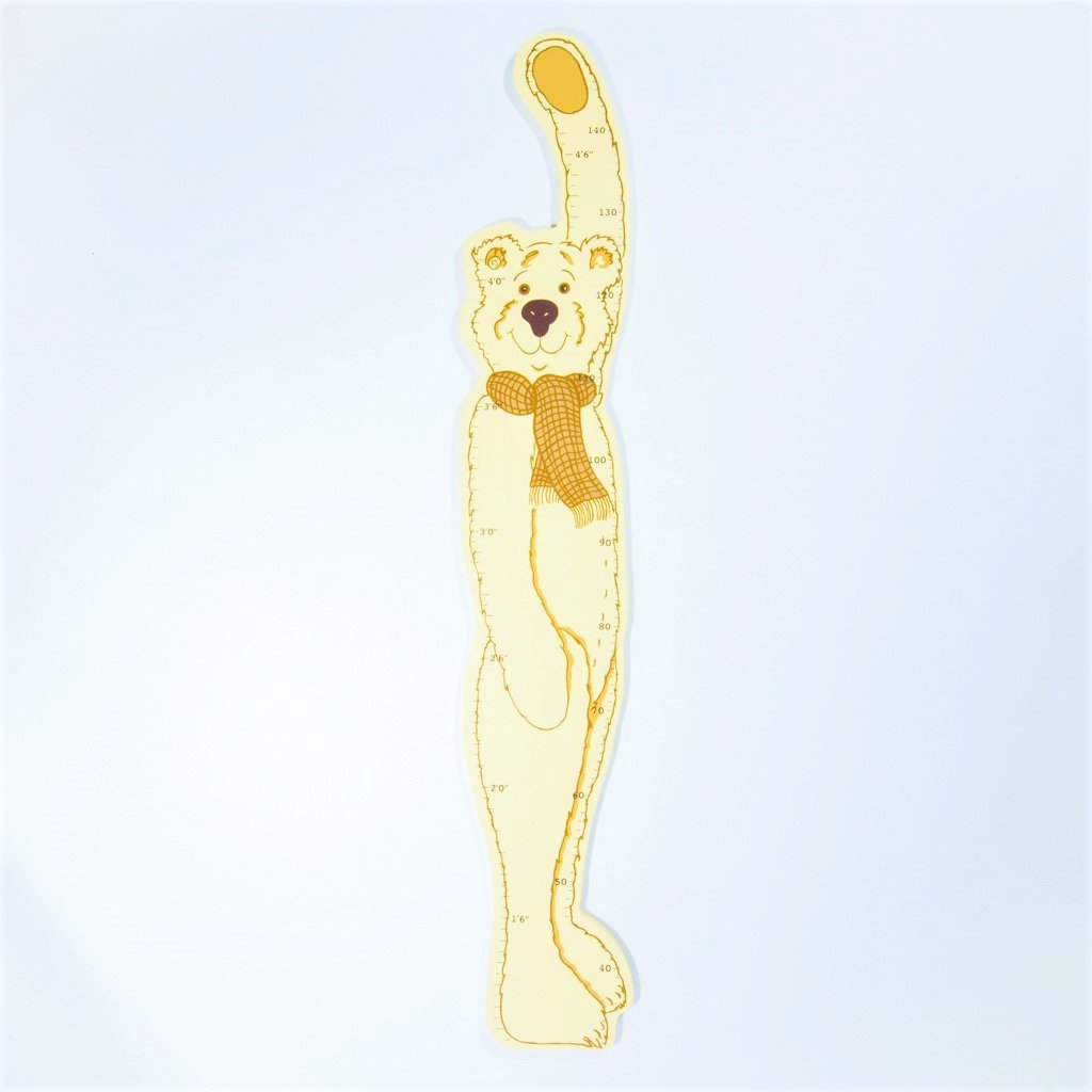 childrens wooden teddy bear height chart