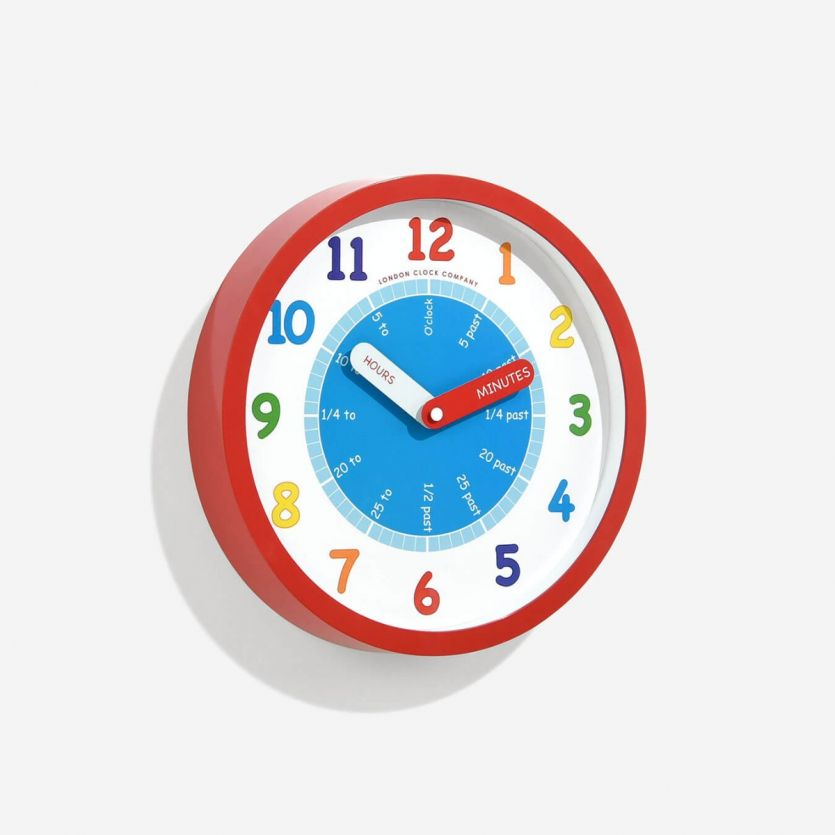 childrens tell the time wall clock