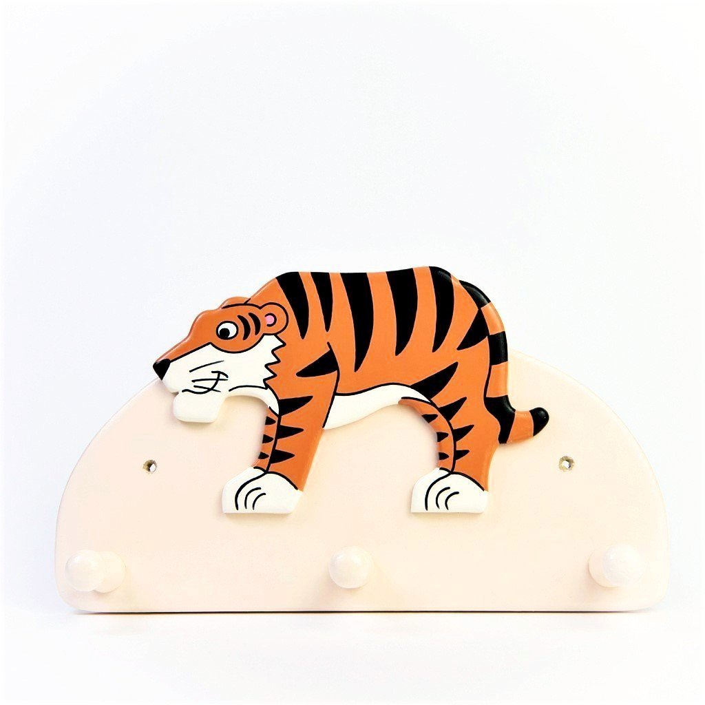 children's jungle tiger triple coat wall hook