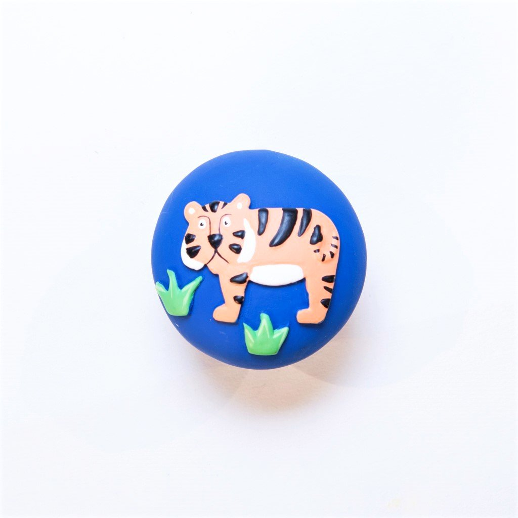 children's jungle tiger door knob