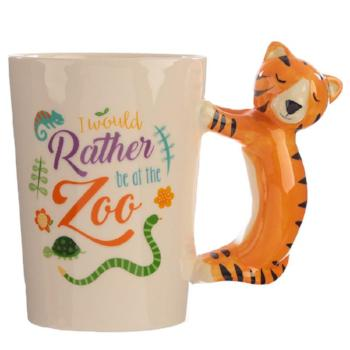 childrens ceramic jungle tiger cup / mug