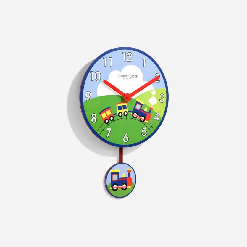 childrens train pendulum clock