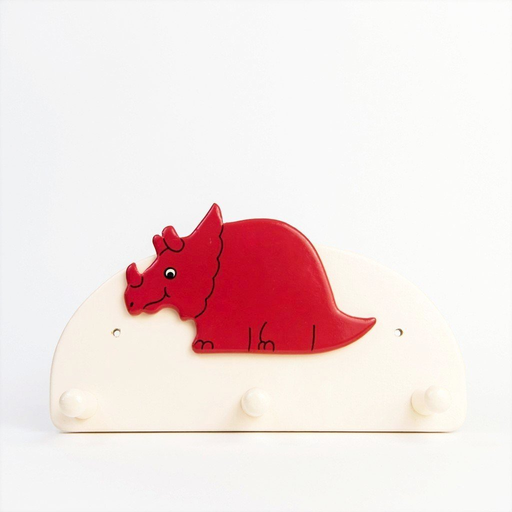children's dinosaur triceratops coat hook