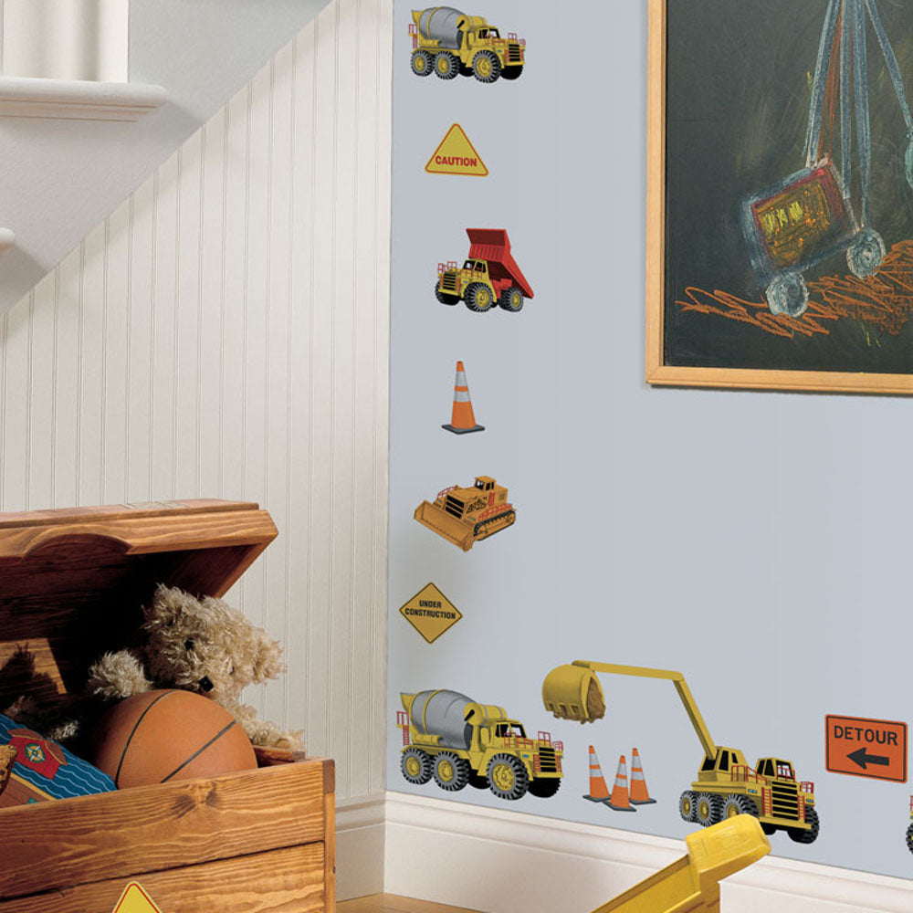 children's under construction wall stickers