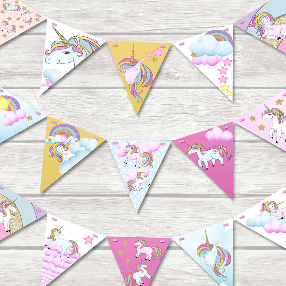 children's unicorn bunting