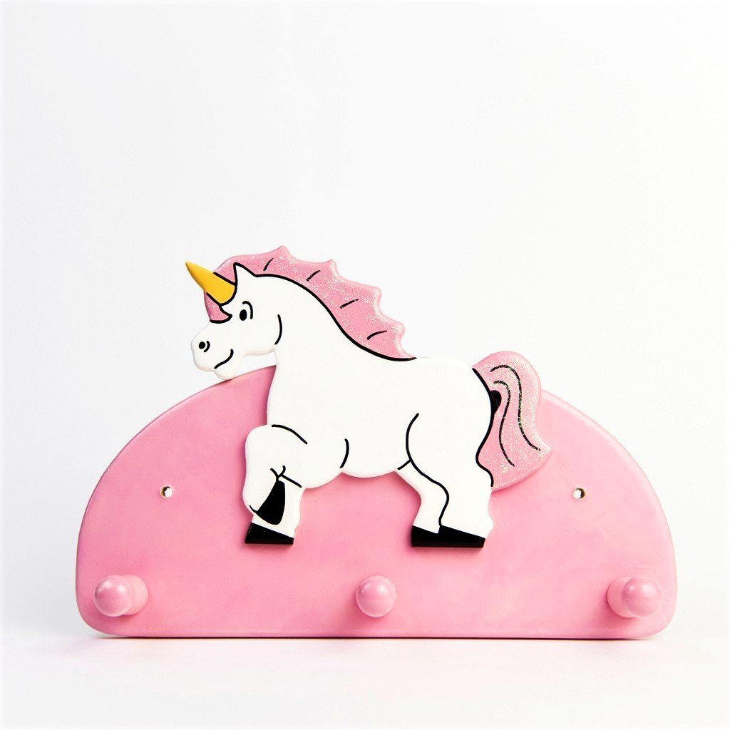 children's unicorn triple coat wall hook