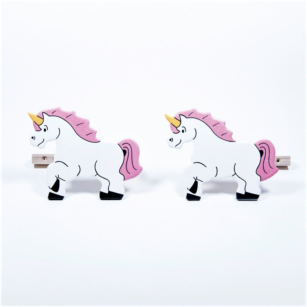 childrens wooden unicorn curtain tie backs