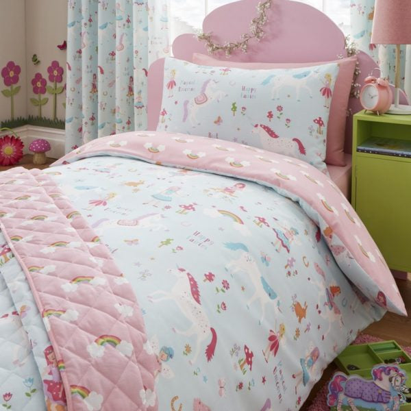 girls unicorn bedding set