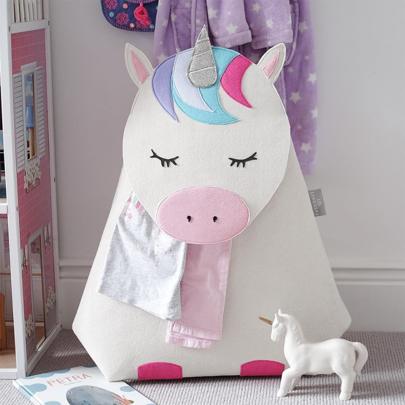 childrens unicorn laundry storage basket