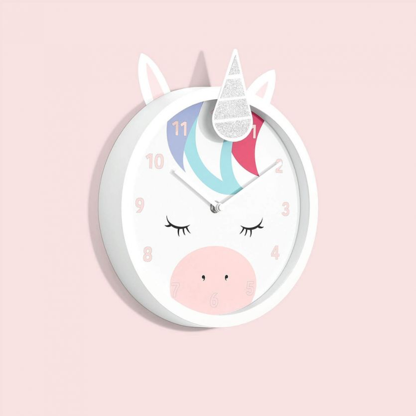 childrens unicorn wall clock