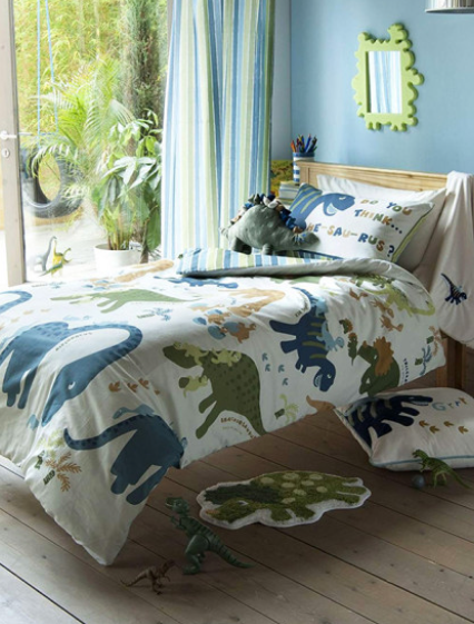 Dinosaur Single Duvet and Pillowcase Set