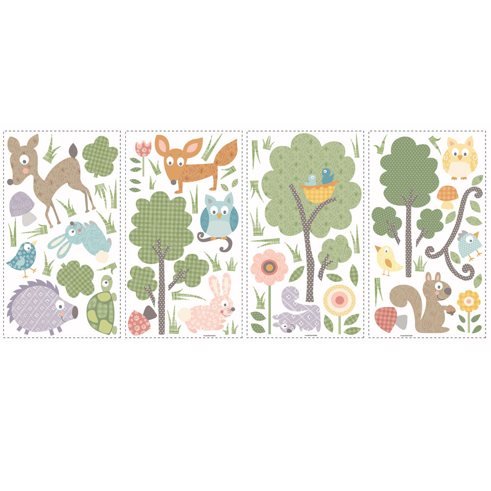 children's woodland animal wall stickers