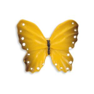 yellow butterfly door knob