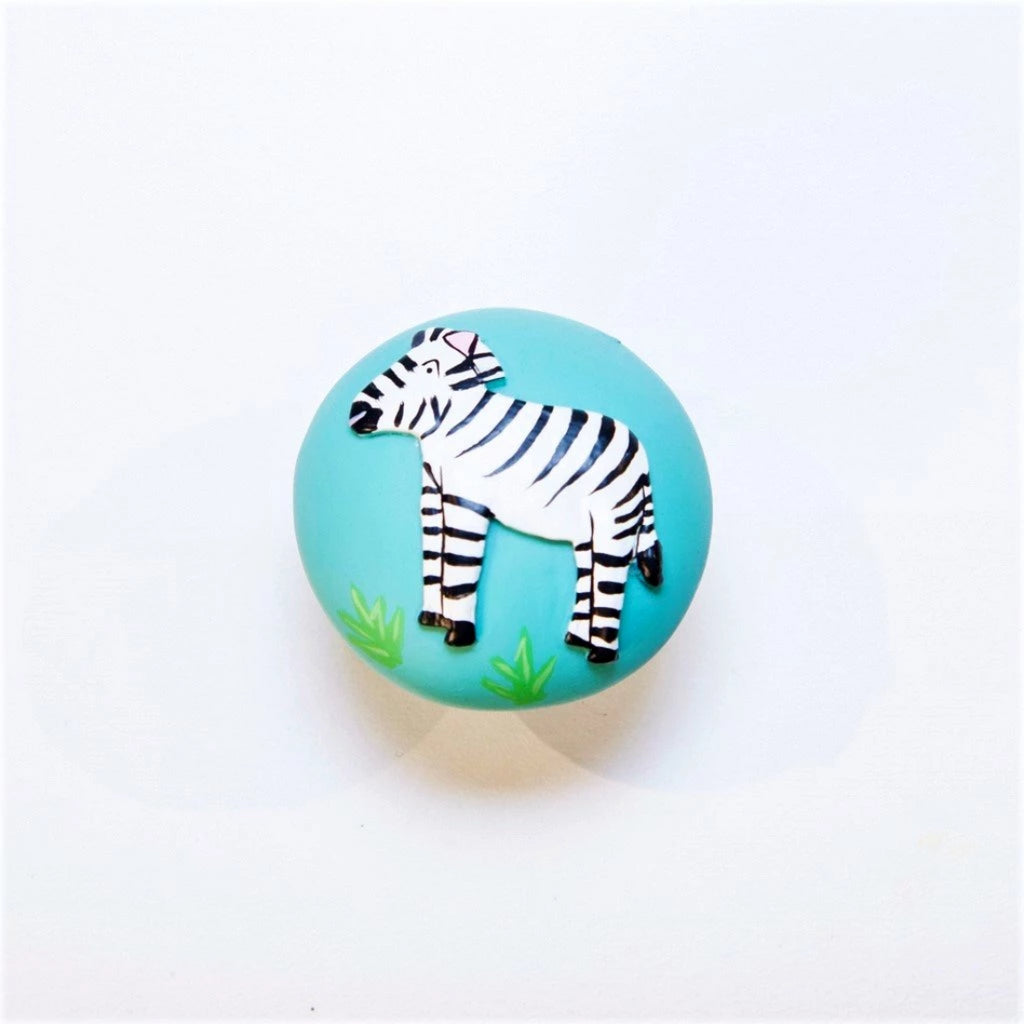 children's jungle zebra door knob