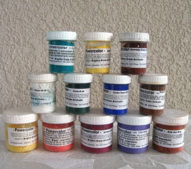 Powder color pigments