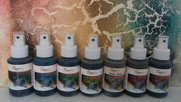 Bister is a water based patina  to create special effects in paintings.