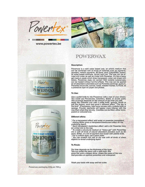 Powerwax by Powertex is an artist quality water-based cold wax which doesn't smell or irritate the eyes.