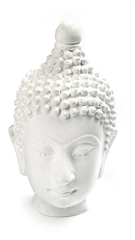 Plaster full Buddha head 4 1/2