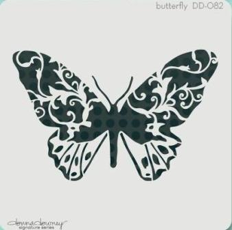Donna Downey Signature stencil Butterflies