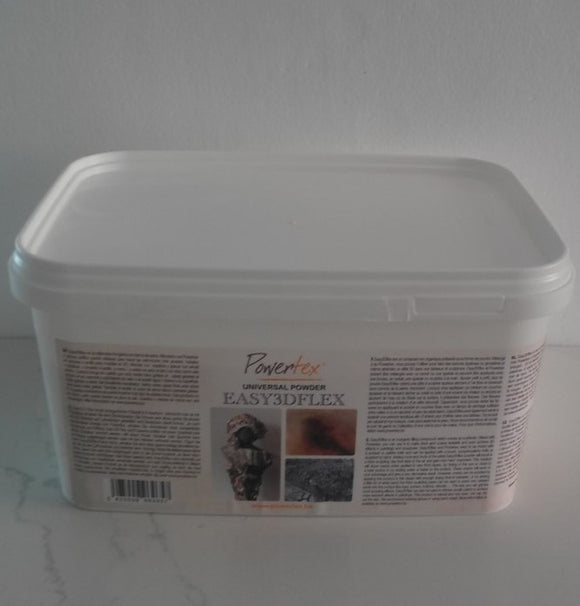 Easy 3Dflex 4kg - To mix with Powertex to make air dry clay or create special effects in paintings.