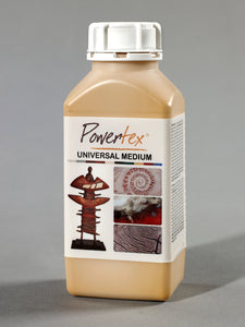 Powertex textile hardener Yellow Ochre is an environmentally-friendly, water-based, liquid medium that hardens most materials but plastic. Special effects can be created in combination with Powertex Bister. Distributed by Powertexcreations for USA