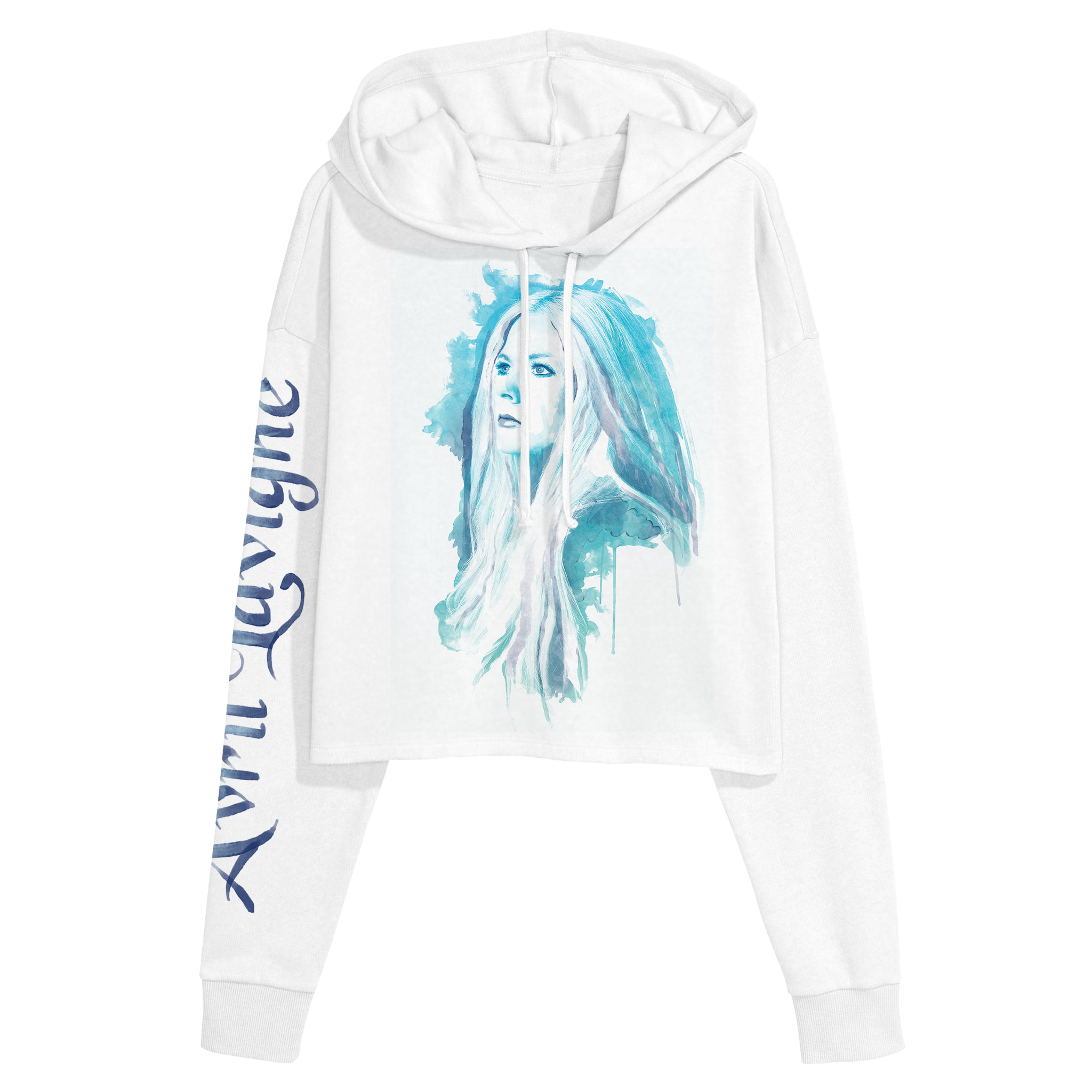 Avril Lavigne Pullover Cropped Hooded Sweatshirt