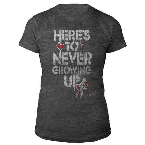 Here's To Never Growing Up Burnout Tee