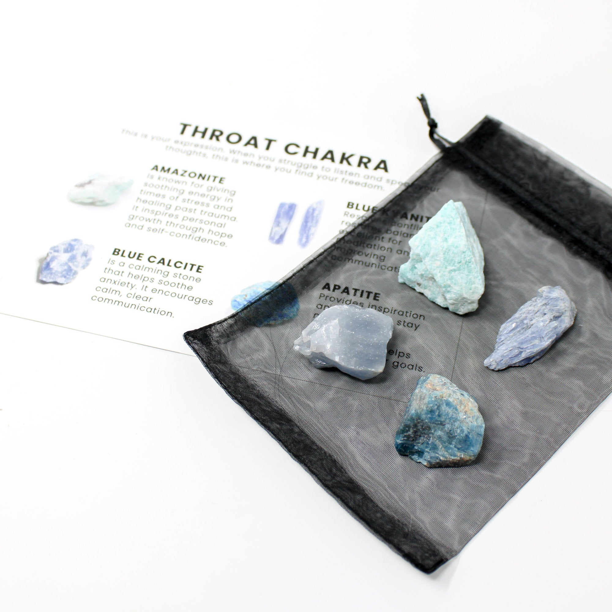 Throat Chakra Raw Crystal Set