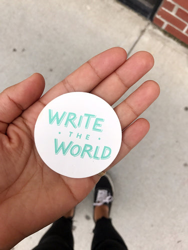 Write the World Stickers (packs of 5)
