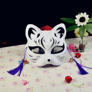 Anime Upper-Face Kitsune Mask