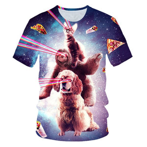 Tacos and Pizza Cat Shirt
