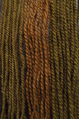 Yarn dyed in Phaeolus Schweinitzii, with iron mordant