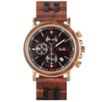 Valerio Collection | Mens Wooden Watch in Ruby Red | Trek Watches