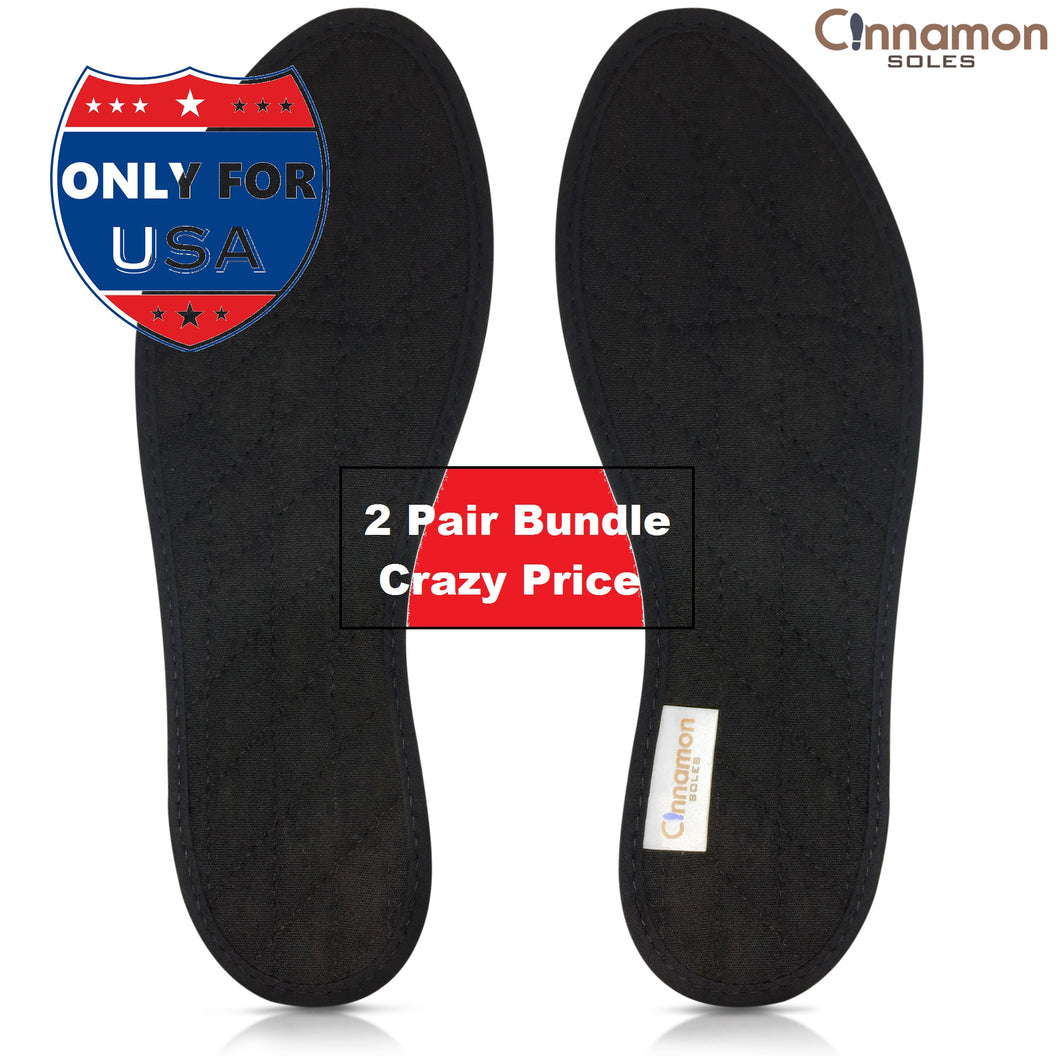Odor Eater Insoles! Stop Foot & Shoe Odor Fast! All Natural Cinnamon & Cotton Insoles - 2 PAIR BUNDLE USA ONLY - Cost After Conversion $20 USD aprox (incl Shipping)