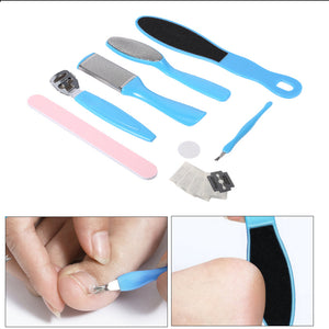 Foot Care Kit 10PCS  Foot File Set Dead Hard Skin Callus Remover Scraper Pedicure Rasp  Cuticle Pusher Nail Foot Care Tool