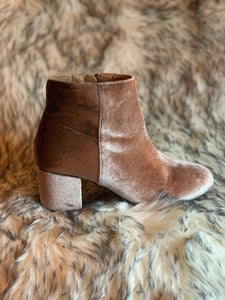 Gretchen Velvet Booties