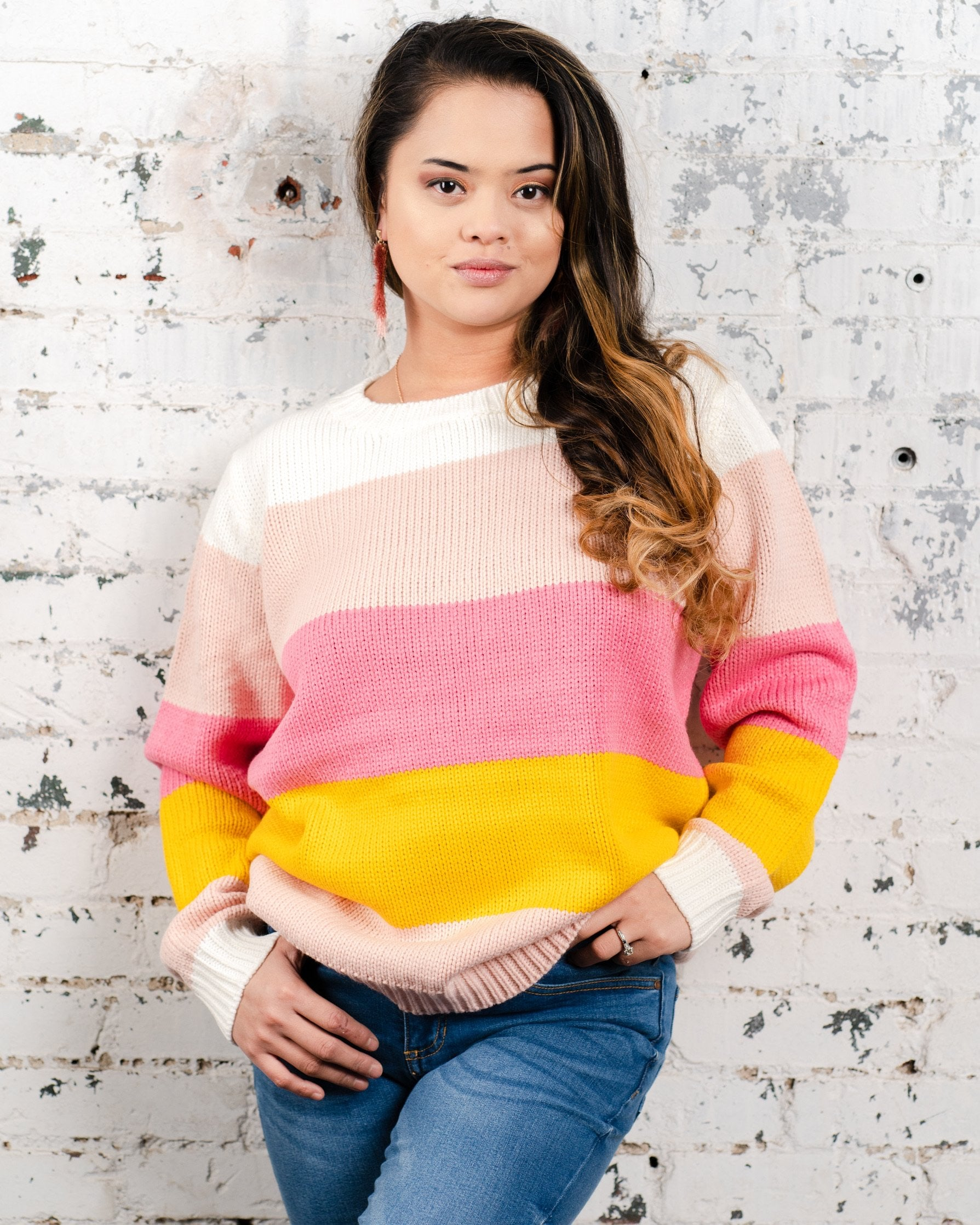 Candy Sweater Pink Multi